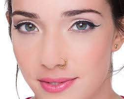 hindu nose ring indian nose ring nose ring primitive nostril ring
