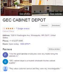 kitchen cabinet depot reviews contact us gec cabinet depot