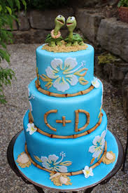hawaii wedding cake with turtles cakecentral com