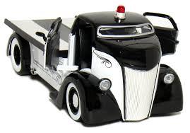 jada 1 24 heat w d 1947 ford coe flat bed tow truck police diecast