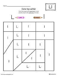 uppercase and lowercase letter l printable writing mat