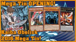 yu gi oh opening kaiba obelisk 2016 mega tin youtube