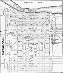 Savannah Ga Map Streetcars Of Savannah 1890 Map