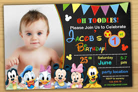 mickey mouse clubhouse birthday invites mickey mouse 1st birthday invitation mickey mouse clubhouse