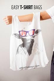 easy diy t shirt bags