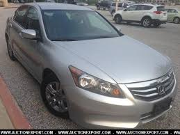 honda accord used for sale used 2012 honda accord se at sedan 4 doors for sale at auctionexport