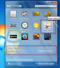 gadget bureau meteo m t o 1555 villarzel gadget pour windows 7