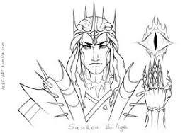 sauron sketches by the alef on deviantart