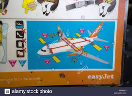air safety card stock photos u0026 air safety card stock images alamy