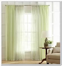 Light Green Curtains Decor Curtain Sheer Voile Ruffled Window Treatment Curtain