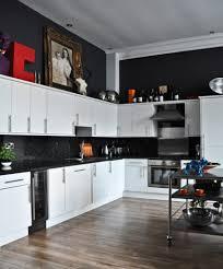 architecture charming art deco black and white kitchen design