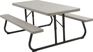 Folding Picnic Table To Bench 22119 6 Foot Folding Picnic Table Bench In Putty