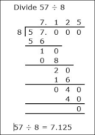 whole number division with decimal answers