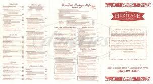heritage family pantry menu lakewood dineries