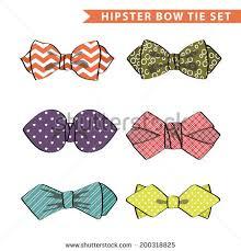 bow ties set celebration mens stock vector 591135812