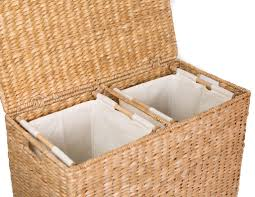 Clothes Hampers With Lids Amazon Com Birdrock Home Oversized Divided Hamper With Liners
