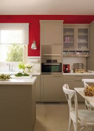 modern beige kitchen design with red walls digsdigs where we