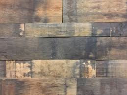 Wooden Wall Panels by Reclaimed Natural Oak Whiskey Barrel Stave Stacked Wall Panels
