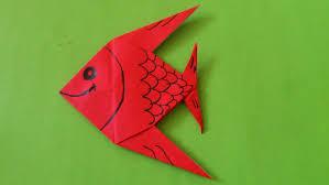 teks prosedur membuat kerajinan lu hias cara membuat origami ikan hias origami binatang youtube