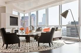 Modern Living Room Rug How To Place A Rug In A Living Room Apartment How To Place A Rug