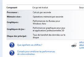 performance du bureau pour windows aero comment faire afficher l indice de performance sur windows 8 1