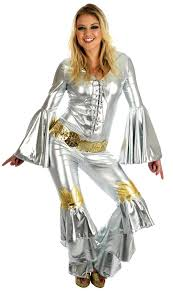 1970s jumpsuit silver fancy dress 1970s jumpsuit abba