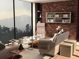 How To Arrange A Long Narrow Living Room by Interior Design Excellent Living Room With Brown Sofa Set Up Image