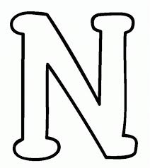 coloring page letters letter n coloring pages paginone biz