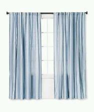 Blue Striped Curtains Threshold Cotton Blend Striped Curtains Drapes U0026 Valances Ebay