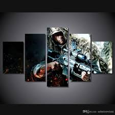 2017 5 panel hd printed rifles soldiers games snipers painting