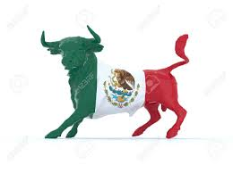 Bulls Flag Mexican Bull With Flag 3d Illustration Stock Photo Picture And
