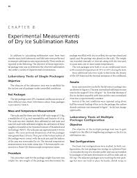 chapter 8 experimental measurements of dry ice sublimation rates