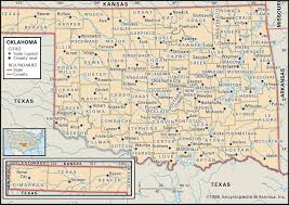 Counties In Texas Map State And County Maps Of Oklahoma