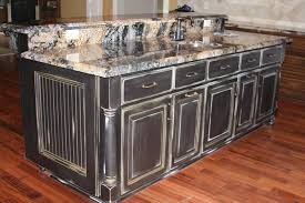 black distressed kitchen island black kitchen island with