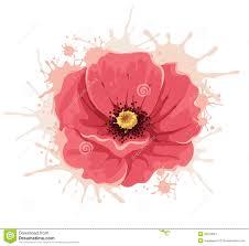 abstract illustration poppy flower stock vector image 50973843