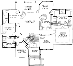 split bedroom floor plans 4 bedroom split entry house plans home plans ideas