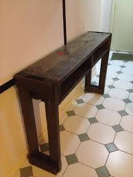 Tables For Hallway Rustic Pallet Hallway Table Side Table Pallet Furniture Plans