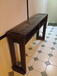 Hallway Table Rustic Pallet Hallway Table Side Table Pallet Furniture Plans