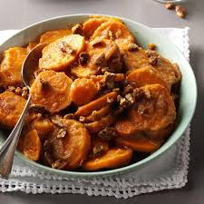 sweet potatoes recipes for thanksgiving applesauce sweet potatoes recipe taste of home