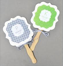 personalized fans for weddings personalized paddle fans mod pattern monogram palm and bamboo