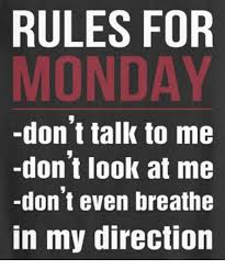 Don T Talk To Me Meme - rules for monday don t talk to me don t look at me don t even