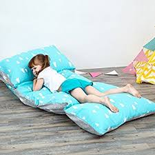 How To Cover A Chair Seat Amazon Com Kids Floor Pillow Fold Out Lounger Fabric Cover For