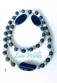 glass stone necklace images Rock 39 n roll natural stone glass bead jewelry jpeg