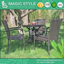 china sale rattan dining chair wicker round table stackable