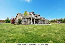 big farm house large farm country house green stock photo 127569056