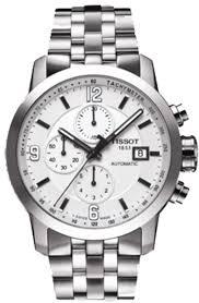 tissot steel bracelet images T055 427 11 017 00 prc 200 auto chrono white dial steel bracelet jpg