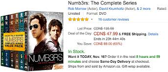amazon 50 black friday amazon canada black friday deals save 65 on numb3rs 55 on