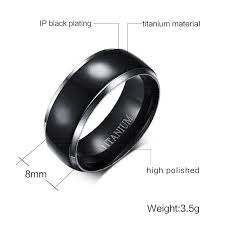 mens titanium rings mens titanium rings black men engagement wedding rings vnox