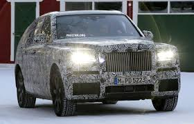 2018 rolls royce cullinan spied rolls royce cullinan suv running winter trials