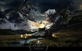 halloween scrolls background awesome skyrim backgrounds group 80